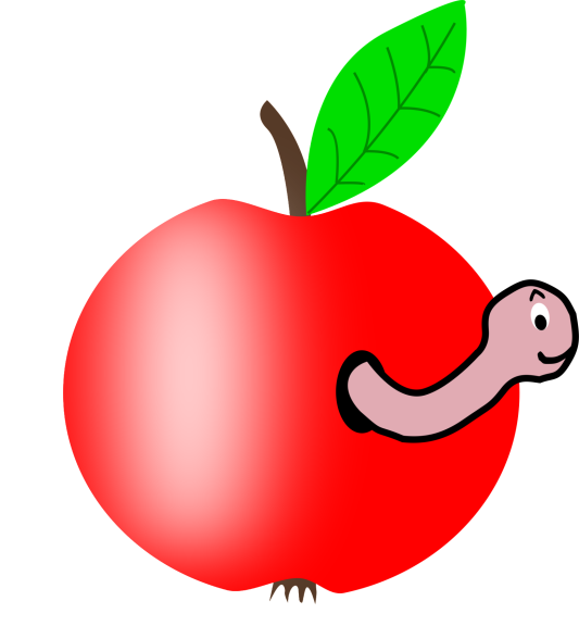 Pomme et ver