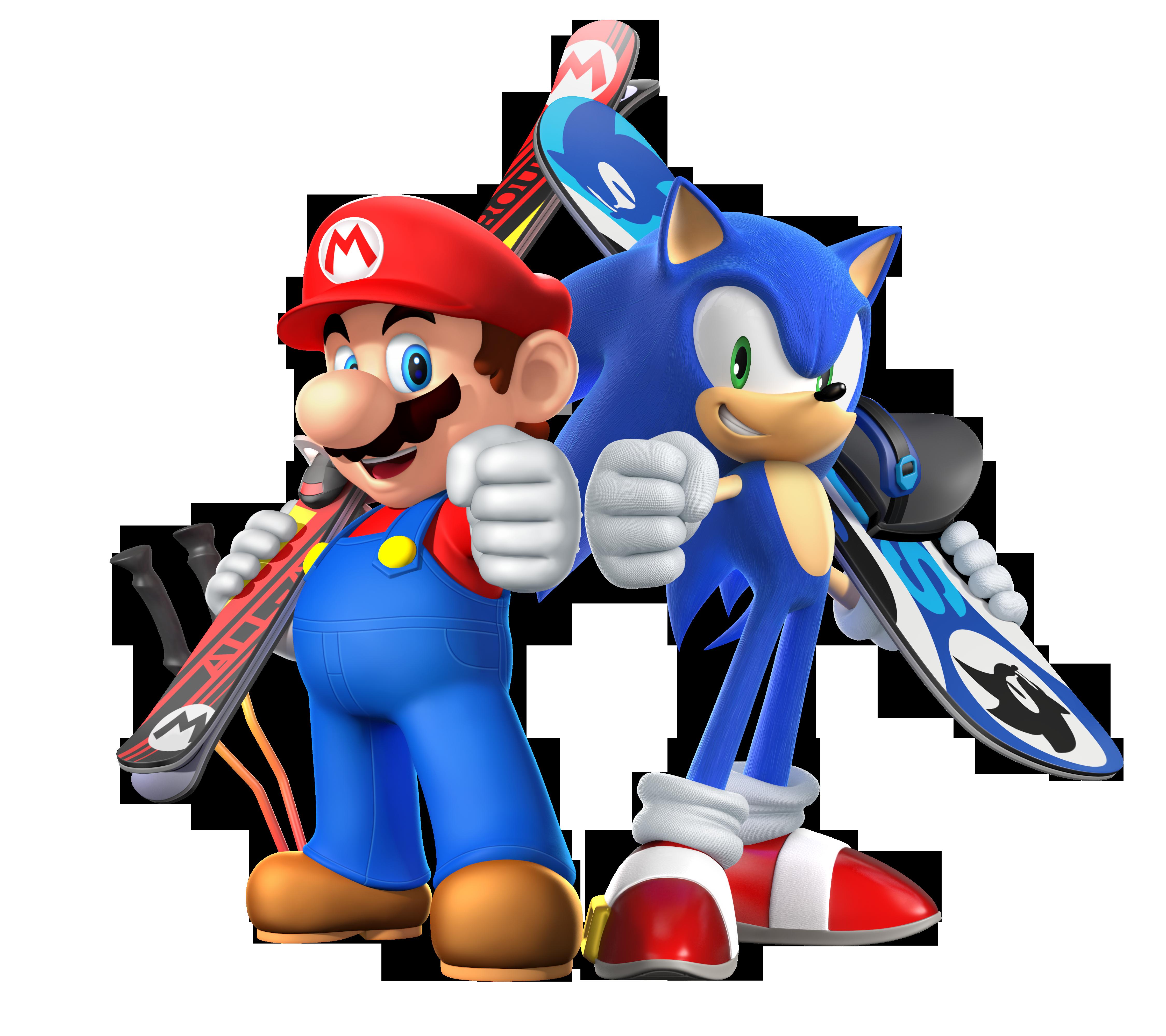Coloriage De Sonic Et Mario A Imprimer