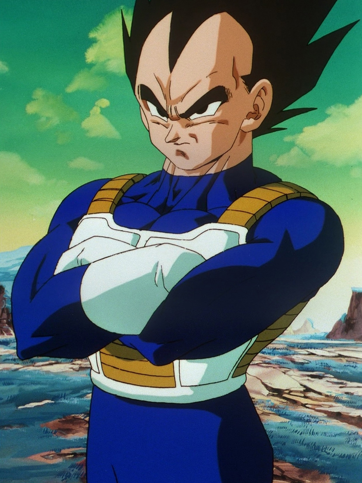 vegeta coloriage vegeta de dragon ball z à imprimer