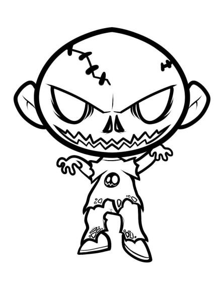 Zombie coloriage