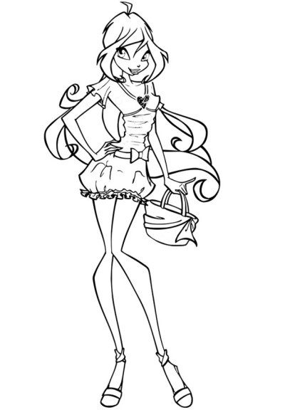Coloriage bloom winx et dessin imprimer - Coloriage winx bloom ...