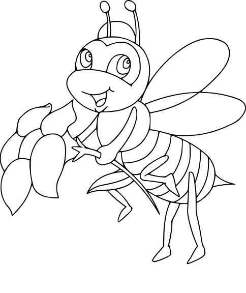 Coloriage abeille reine imprimer - Abeille coloriage ...