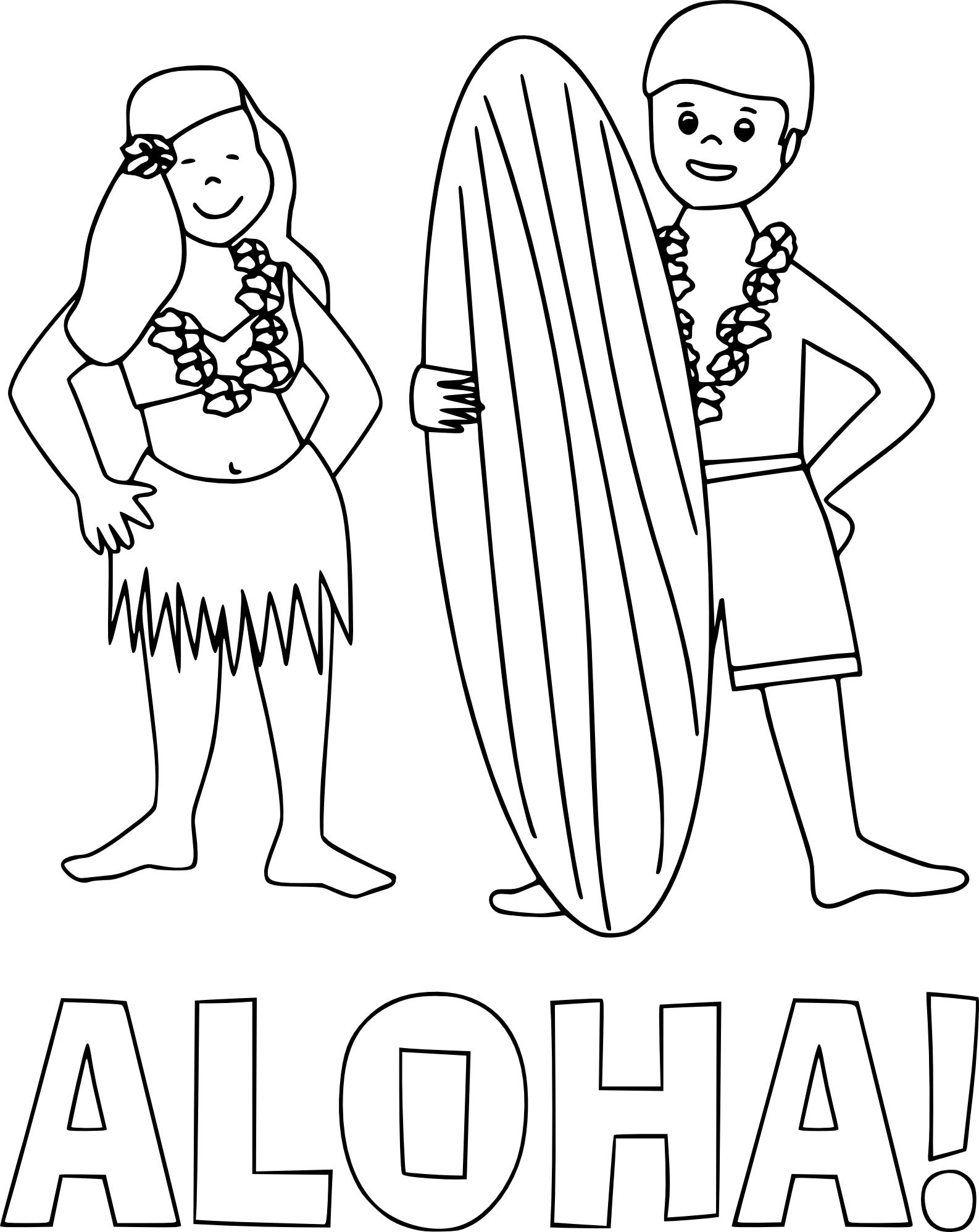 Coloriage Aloha