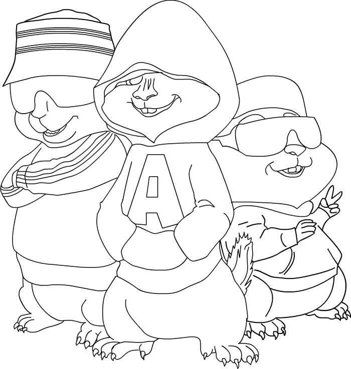 Coloriage Alvin Et Les Chipmunks A Imprimer