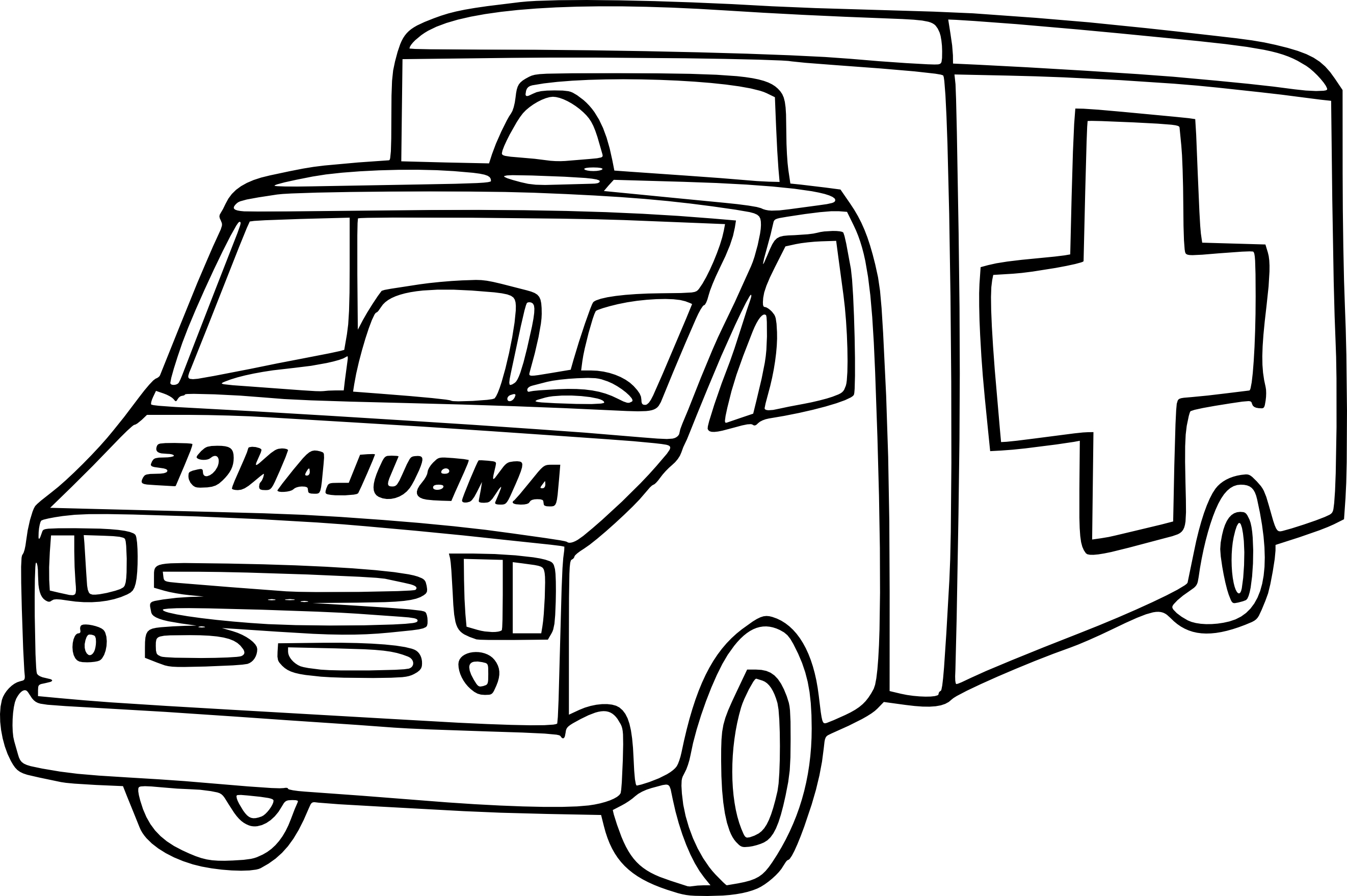 Coloriage ambulance imprimer - Dessin ambulance ...