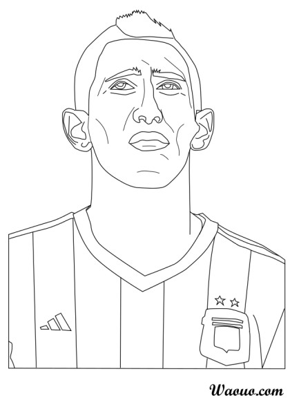 Coloriage Angel di Maria