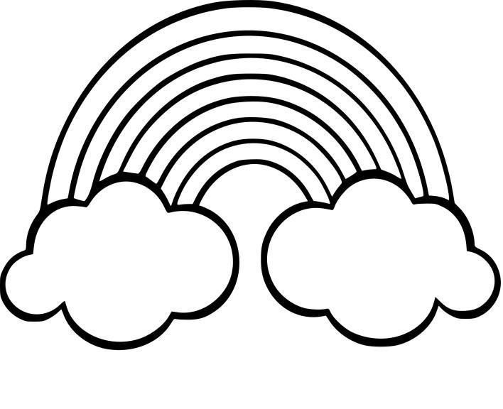 Coloriage arc en ciel imprimer - Nuage en dessin ...