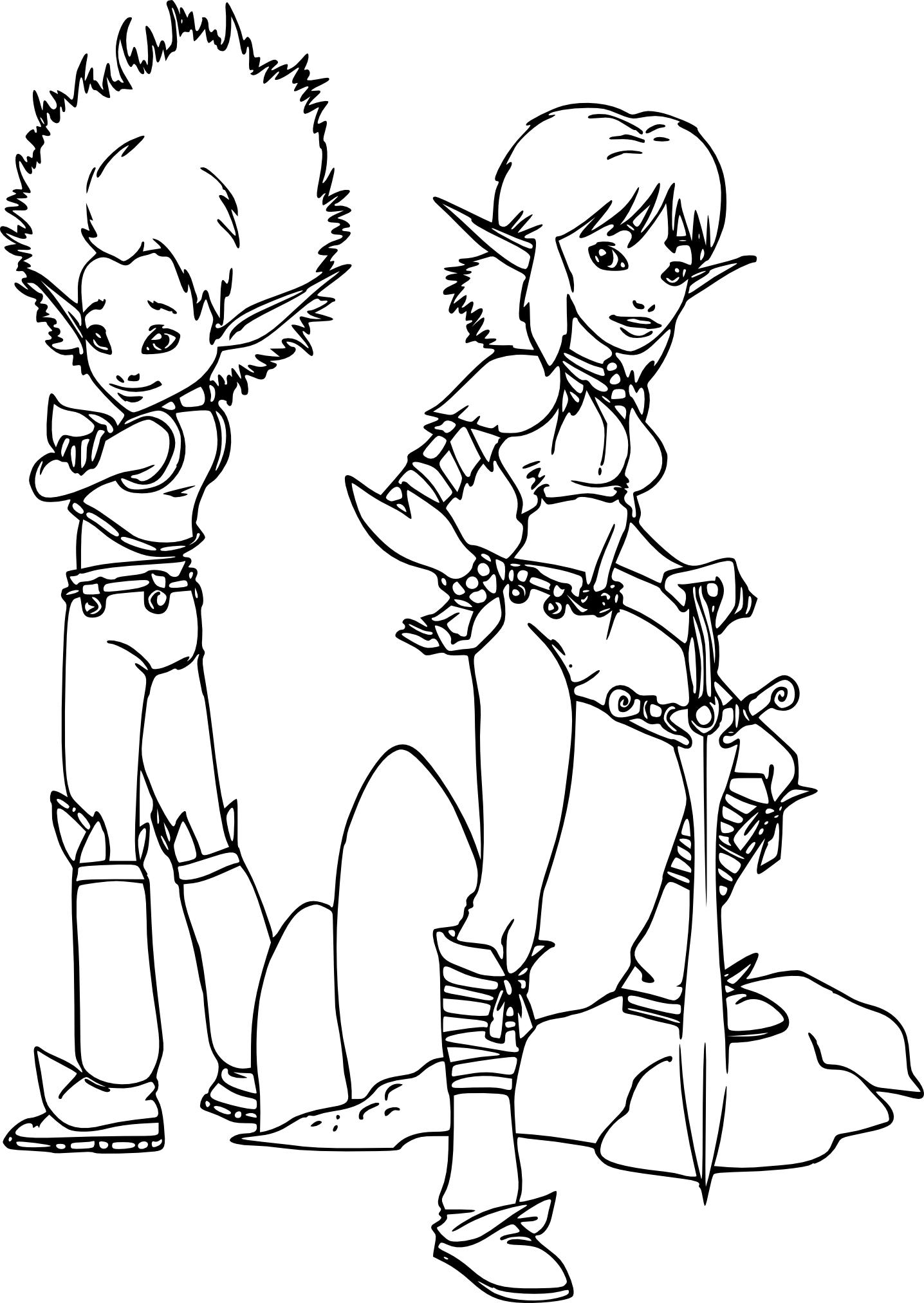 Coloriage Arthur et Selenia