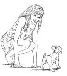 Coloriage Barbie et son chien
