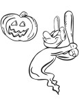 Coloriage baseball halloween