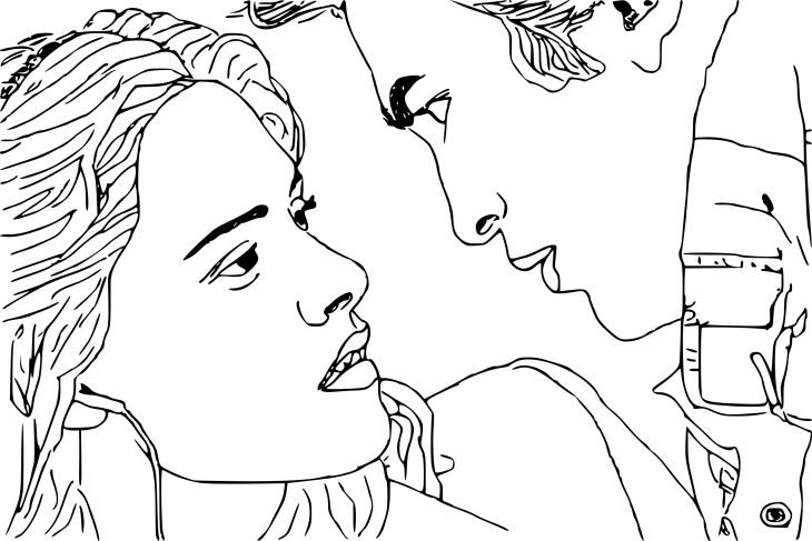 Coloriage Bella et Edward