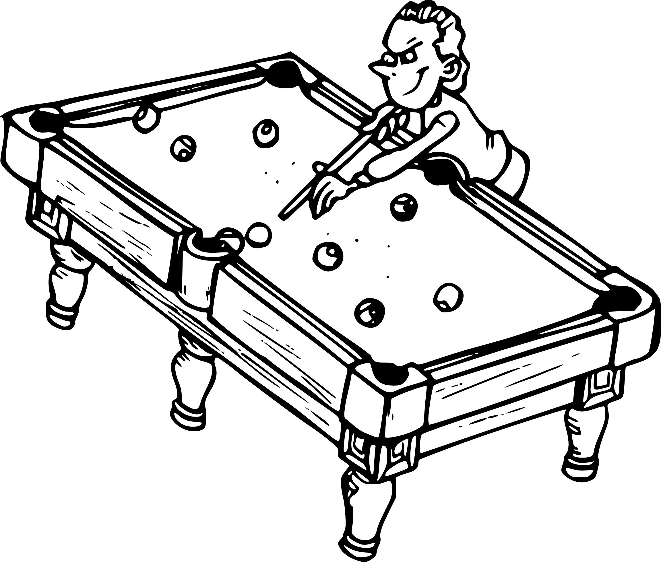 Coloriage billard