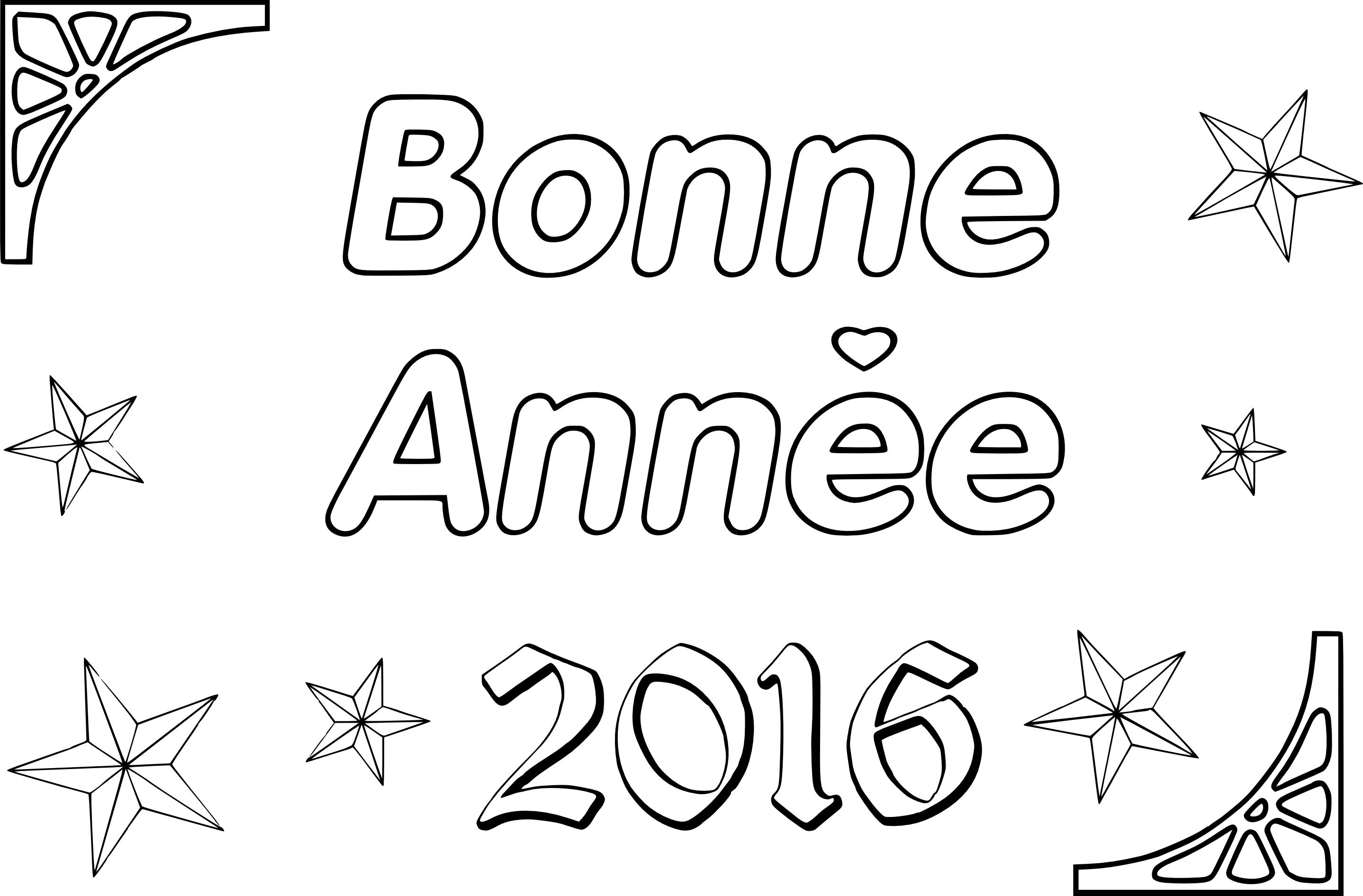 Coloriage bonne année 2016