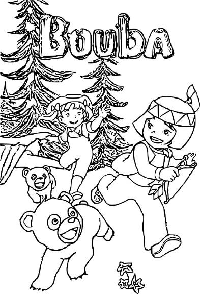 Coloriage Bouba le petit ourson