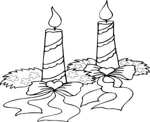 Coloriage bougies de noel