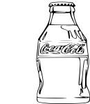 Coloriage Bouteille Coca Cola