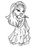 Coloriage Bratz princesse