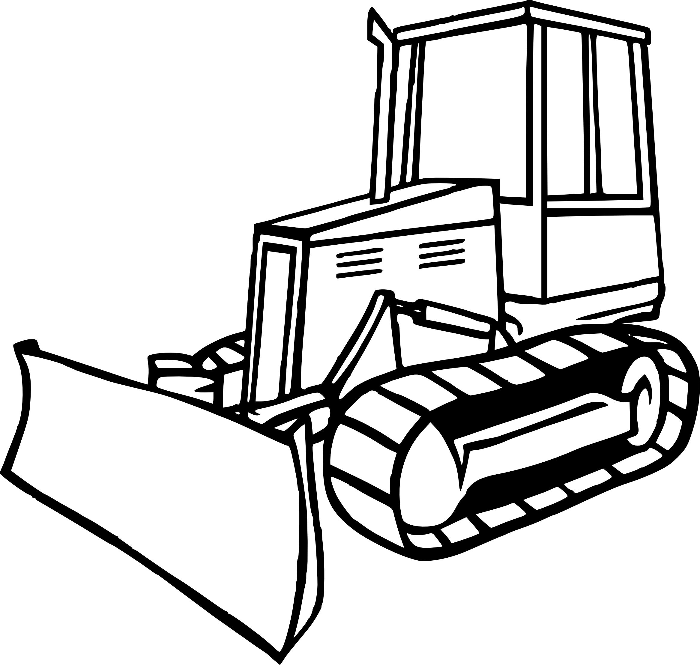 bulldozer coloring pages - coloriage bulldozer imprimer