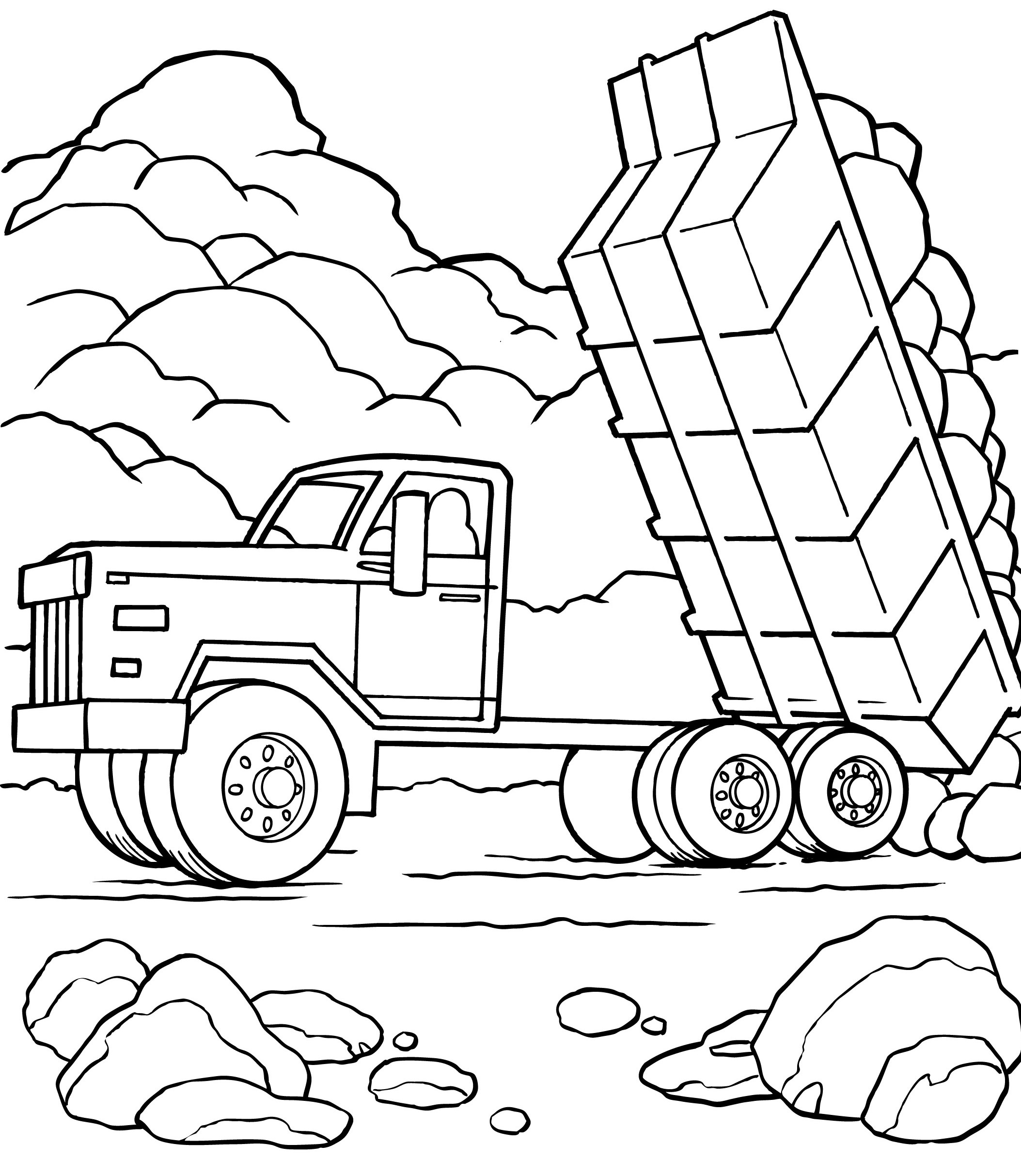 Coloriage camion am ricain imprimer - Dessin camion americain ...