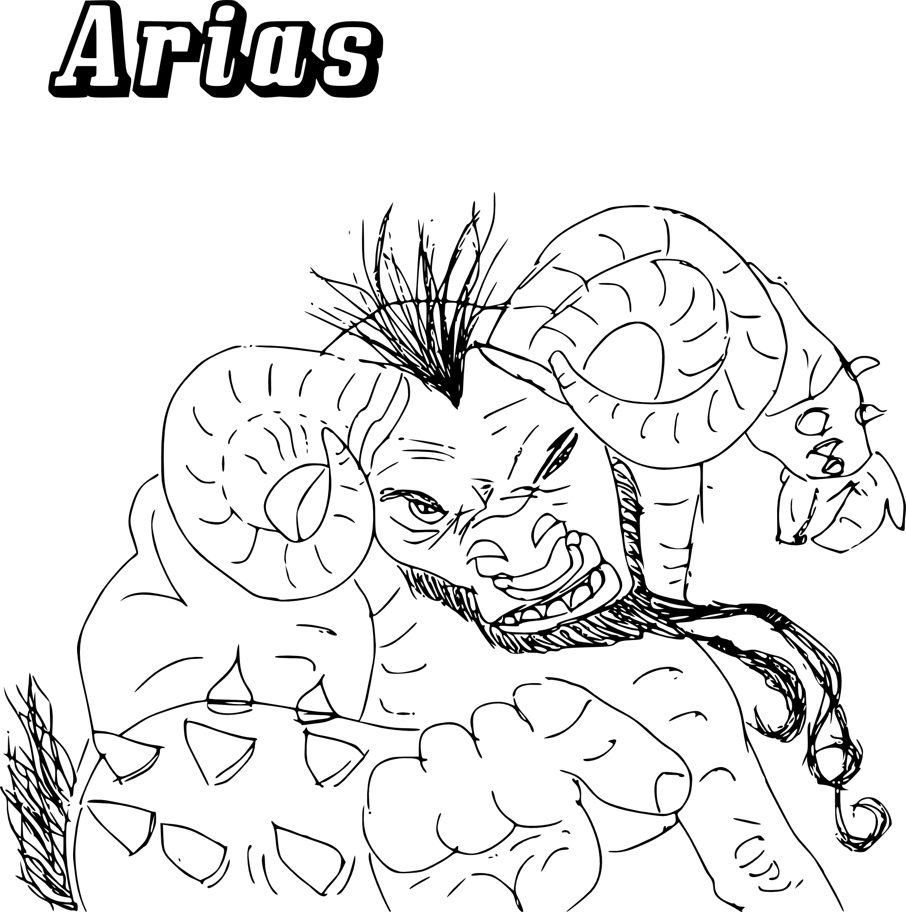 Coloriage Chaotic Arias