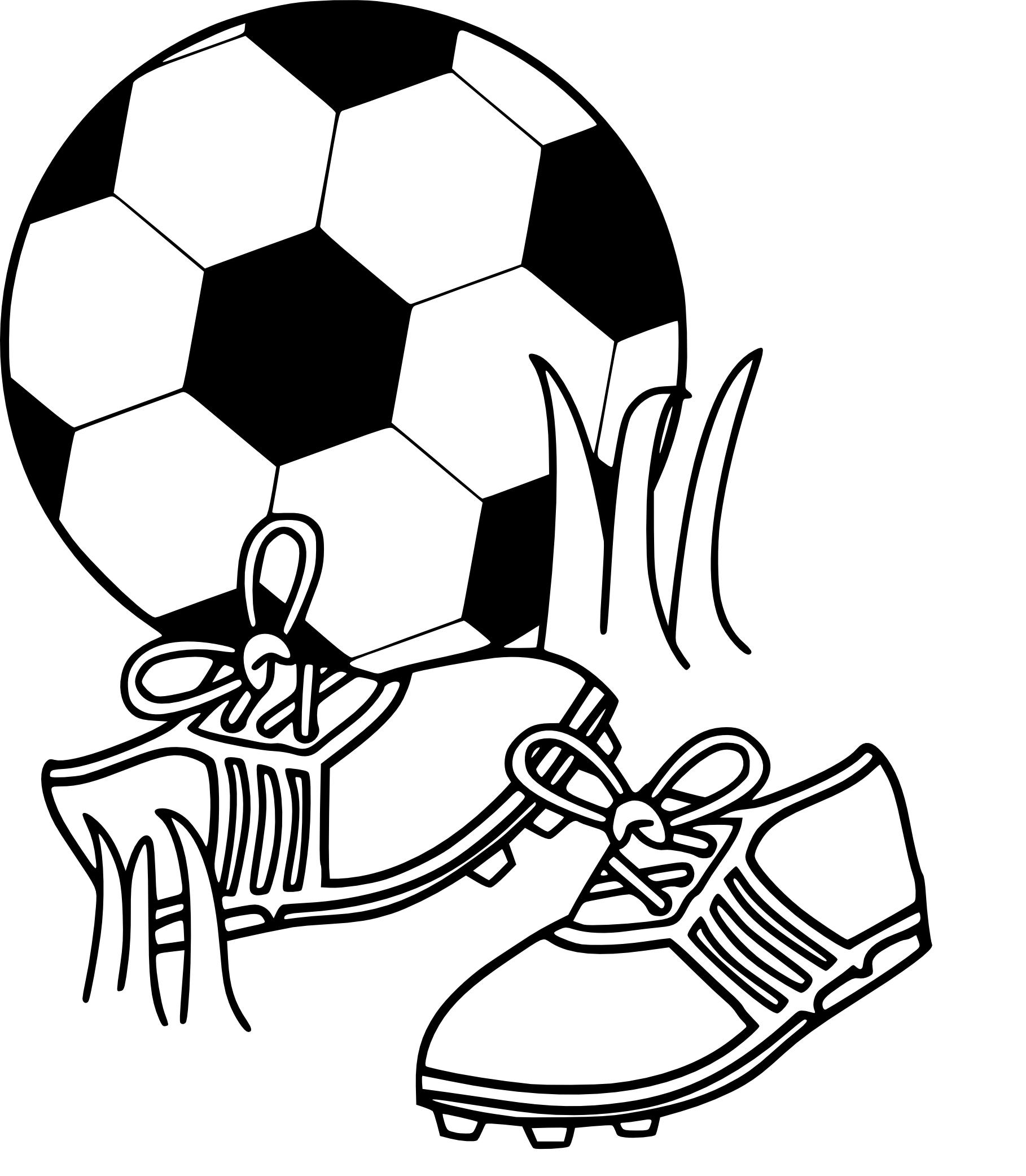 Coloriage chaussure de foot