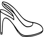 Coloriage chaussure haut talon