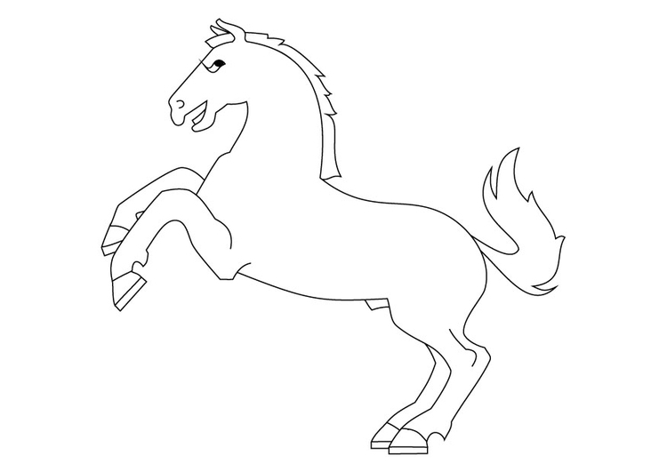 Coloriage cheval cabré