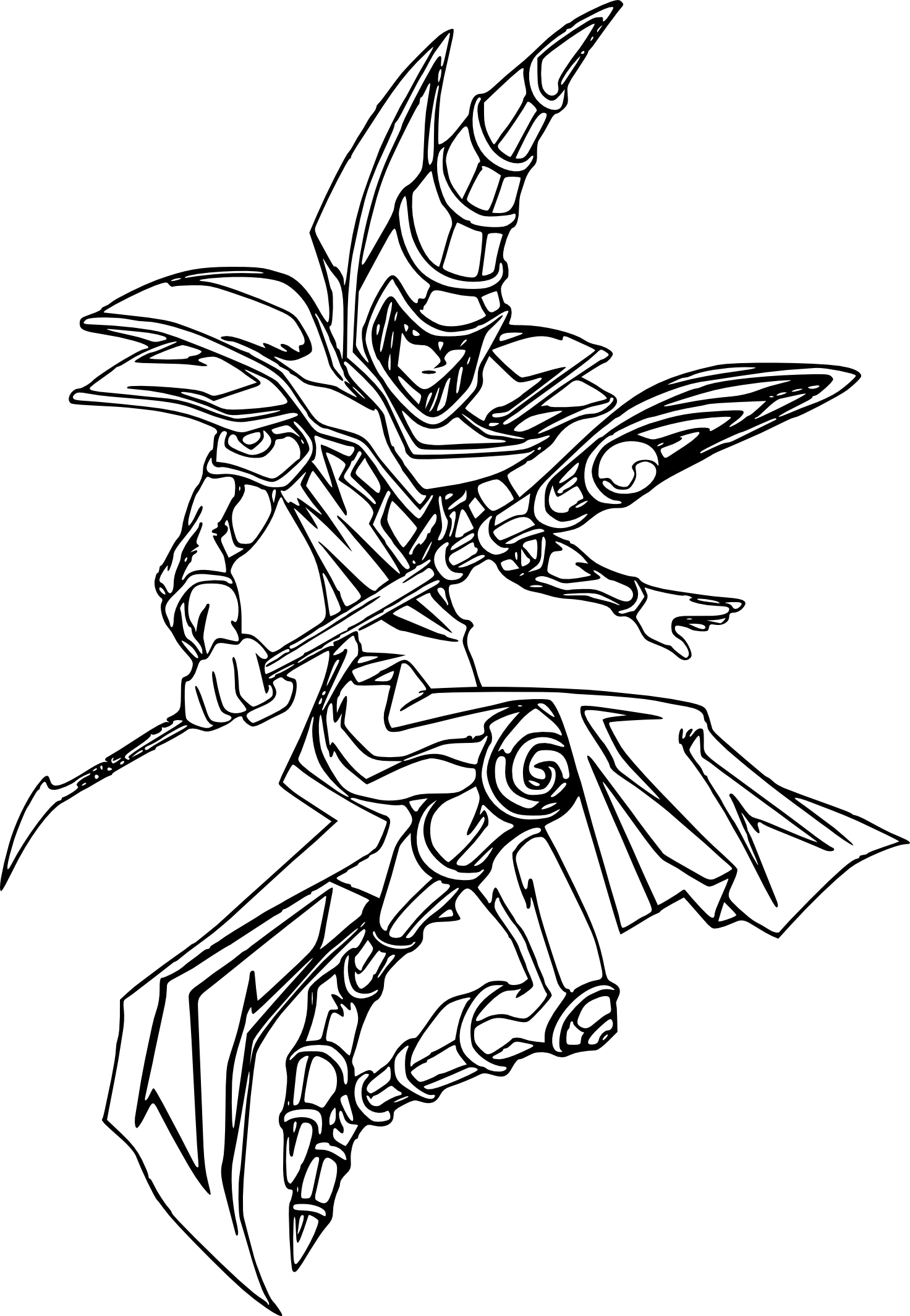 Coloriage Chevalier Yu Gi Oh A Imprimer