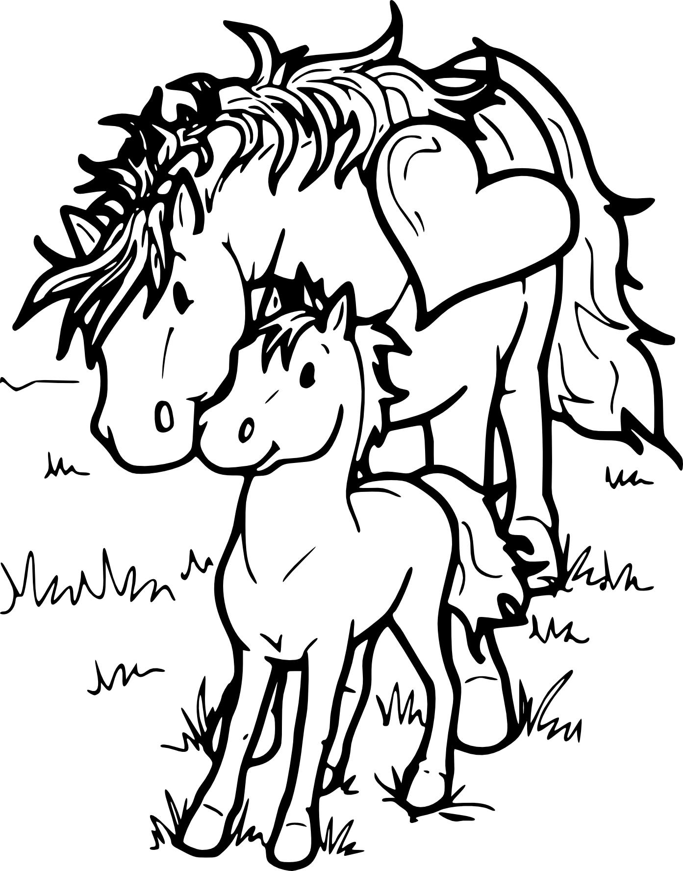 Coloriage chevaux et poney