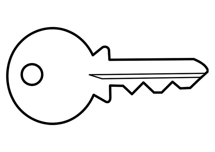 Coloriage clef de maison