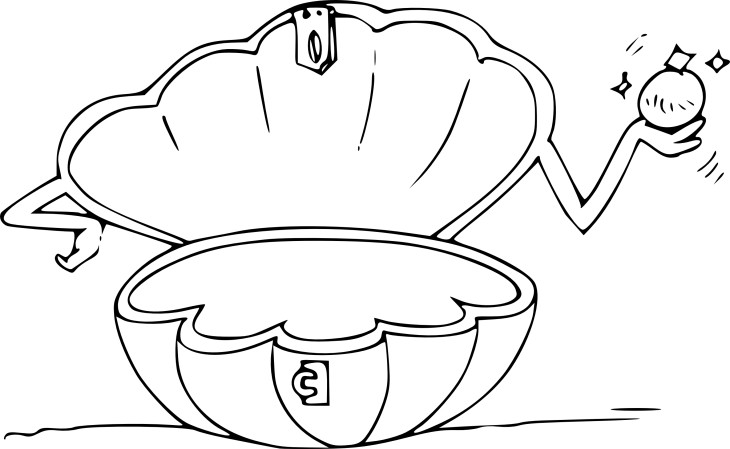 Coloriage coquillage ouvert imprimer - Dessin coquillage ...
