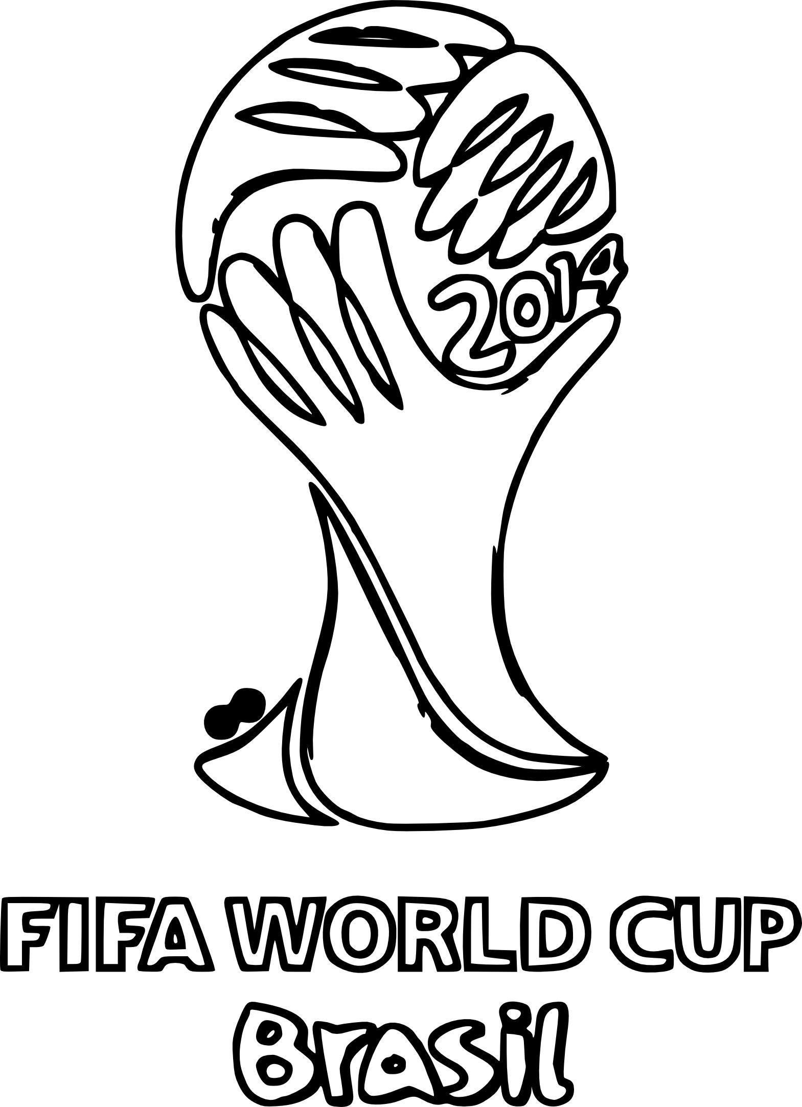 Coloriage coupe du monde 2014