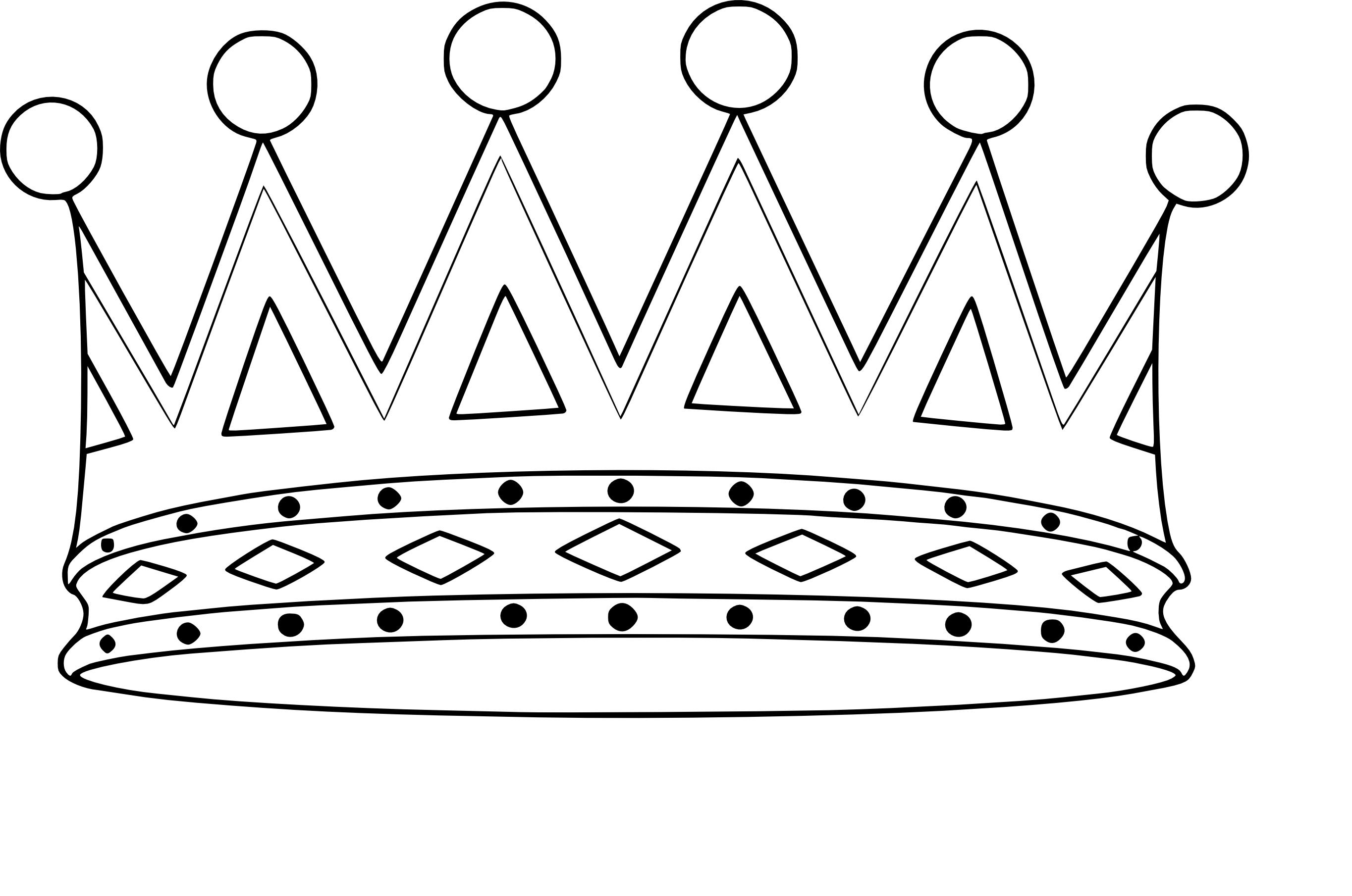 Coloriage couronne à imprimer
