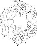 Coloriage couronne de houx