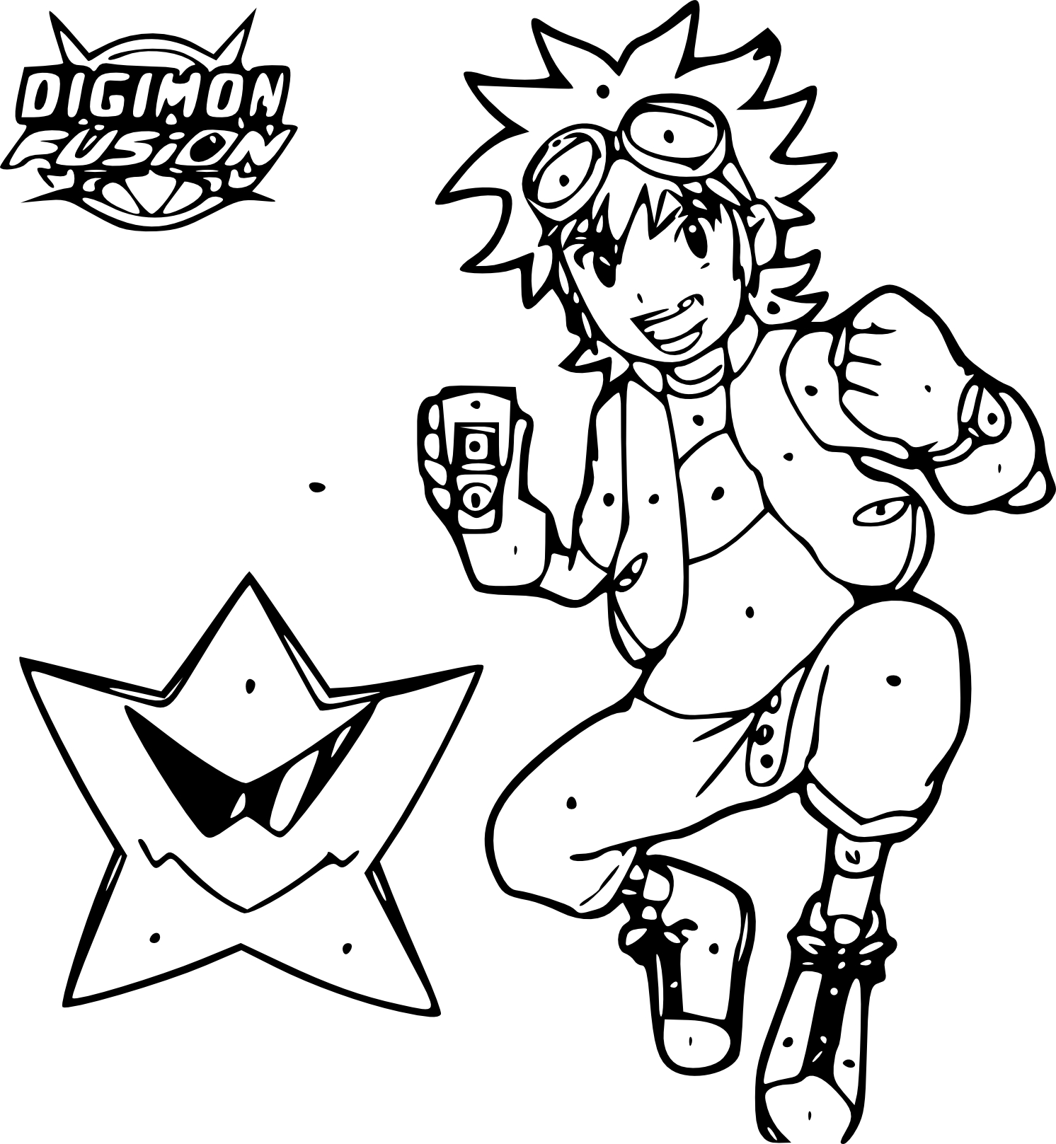 Coloriage Digimon Fusion
