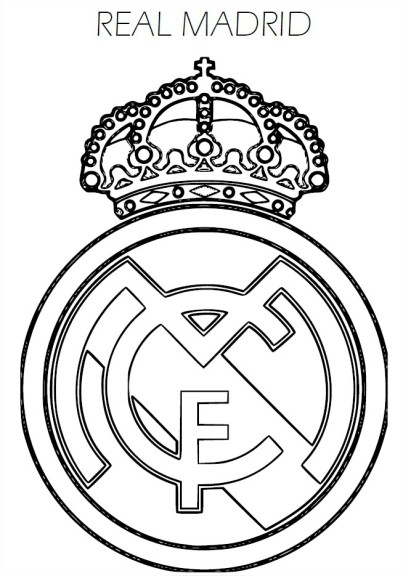 Coloriage ecusson Real Madrid