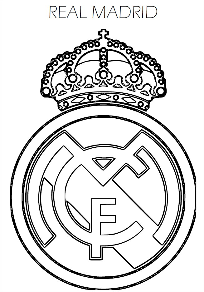 Coloriage cusson real madrid imprimer - Coloriage foot gratuit ...