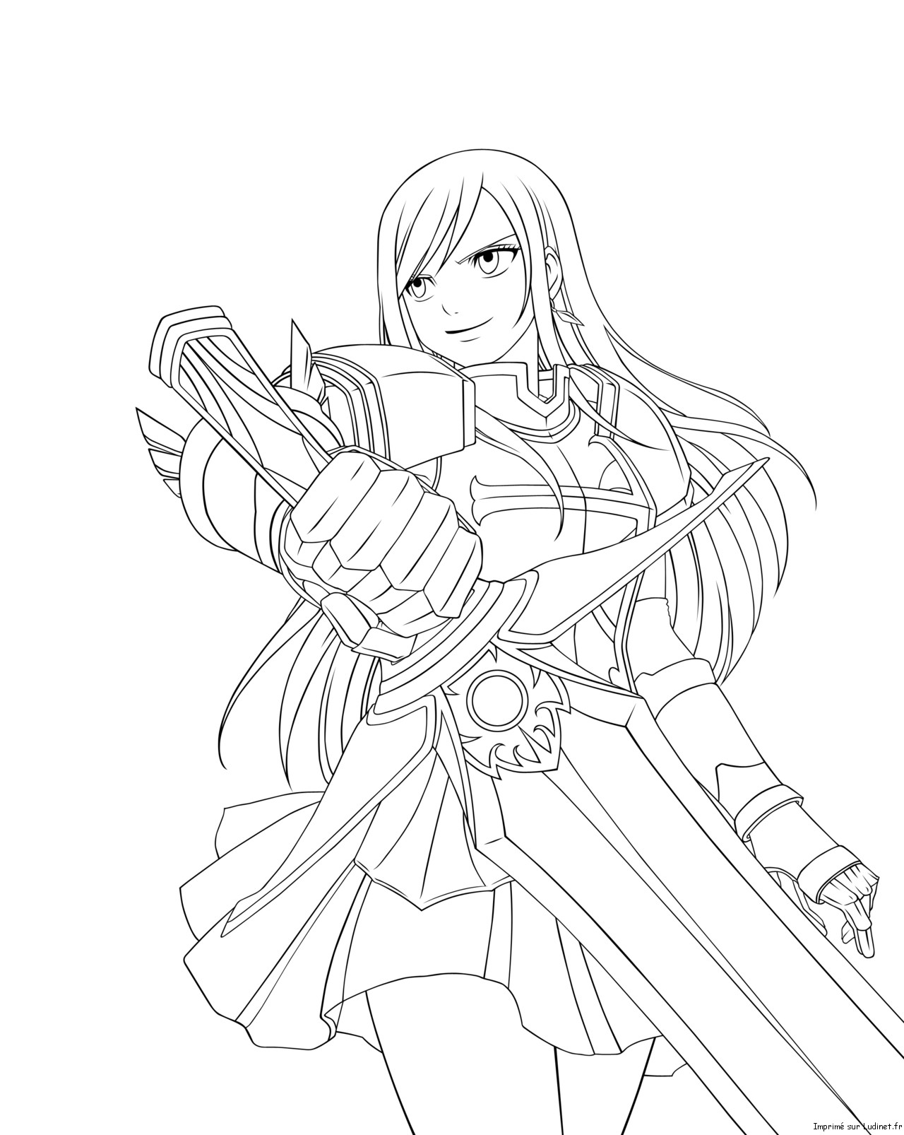 Coloriage Fairy Tail Erza