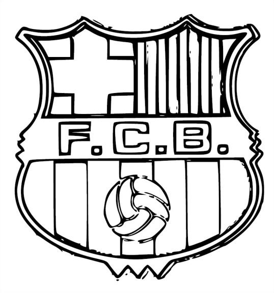 Coloriage écusson FC Barcelone à imprimer