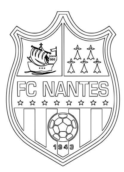 Coloriage FC Nantes