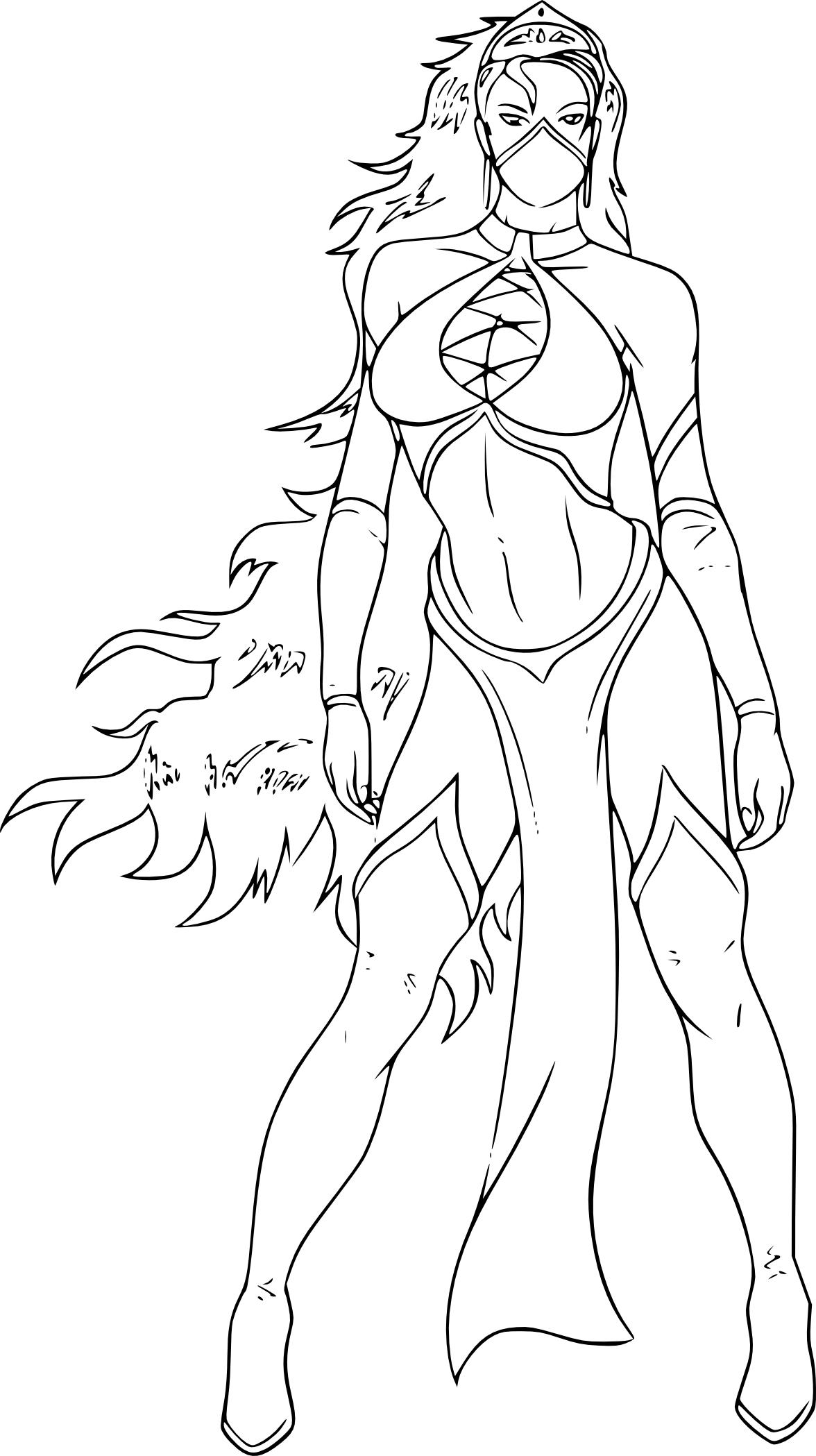 Coloriage femme Mortal Kombat