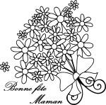 Coloriage fête des mères fleur