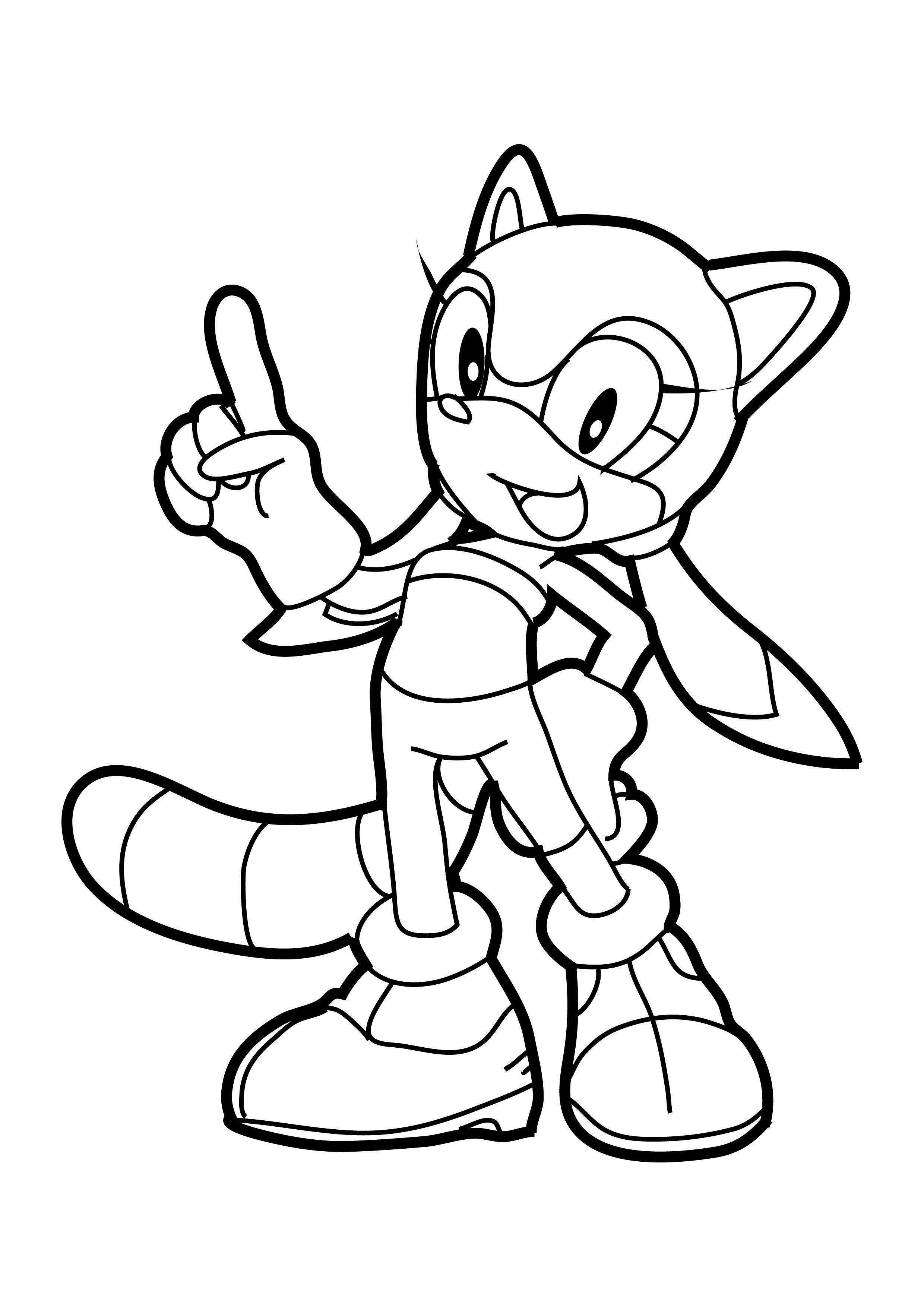 Coloriage fille de Sonic