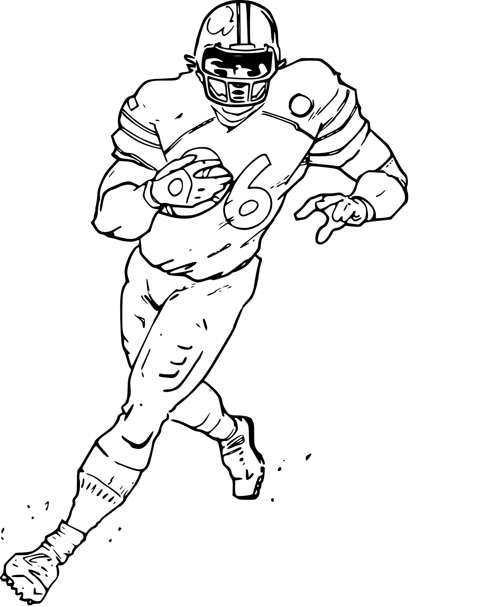 Coloriage foot americain