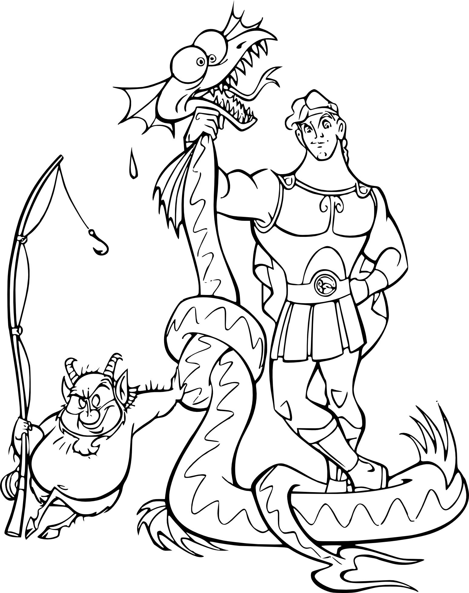 Coloriage Hercule demi-dieu
