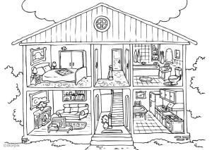 coloriage maison imprimer. Black Bedroom Furniture Sets. Home Design Ideas