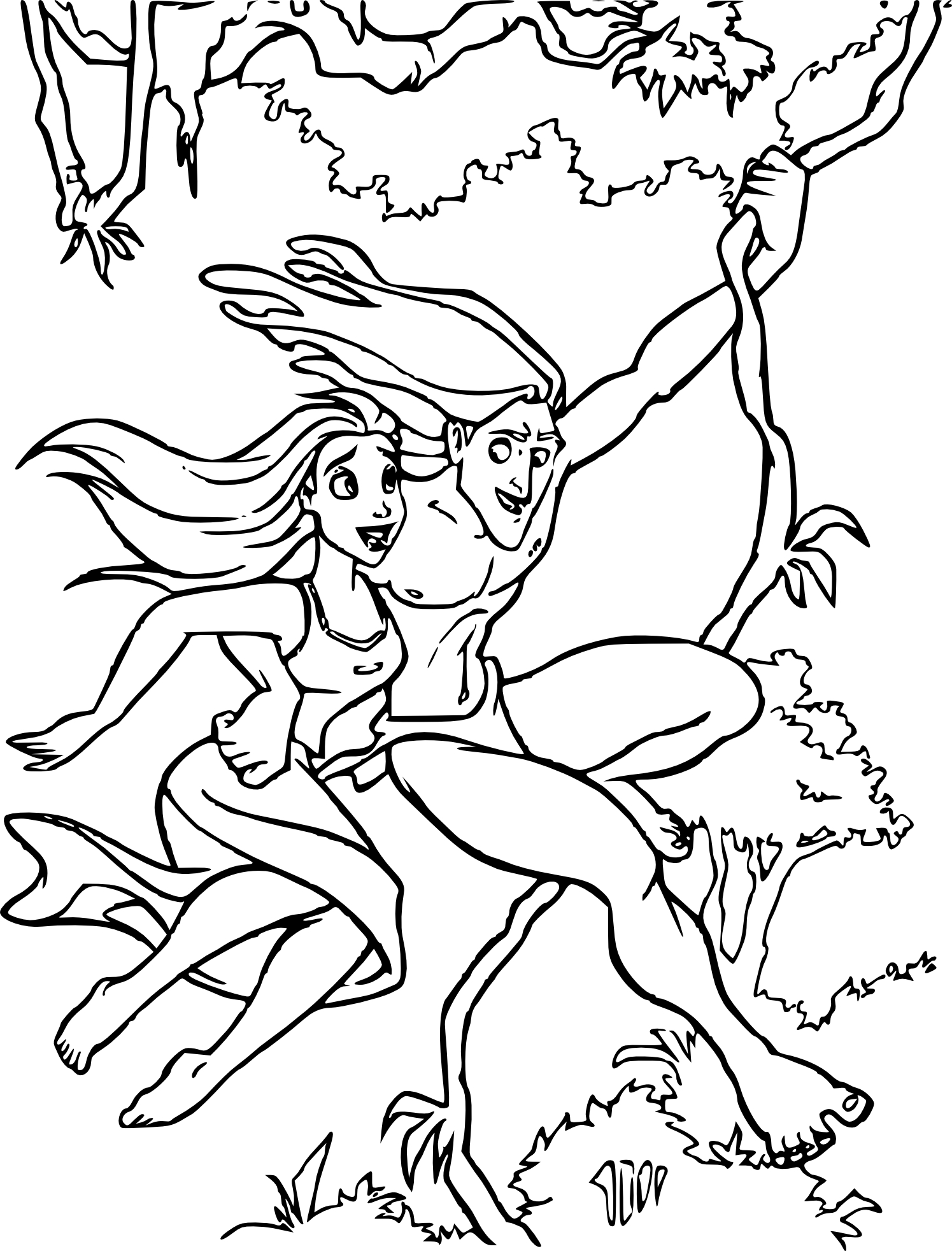 Coloriage Jane à la jungle