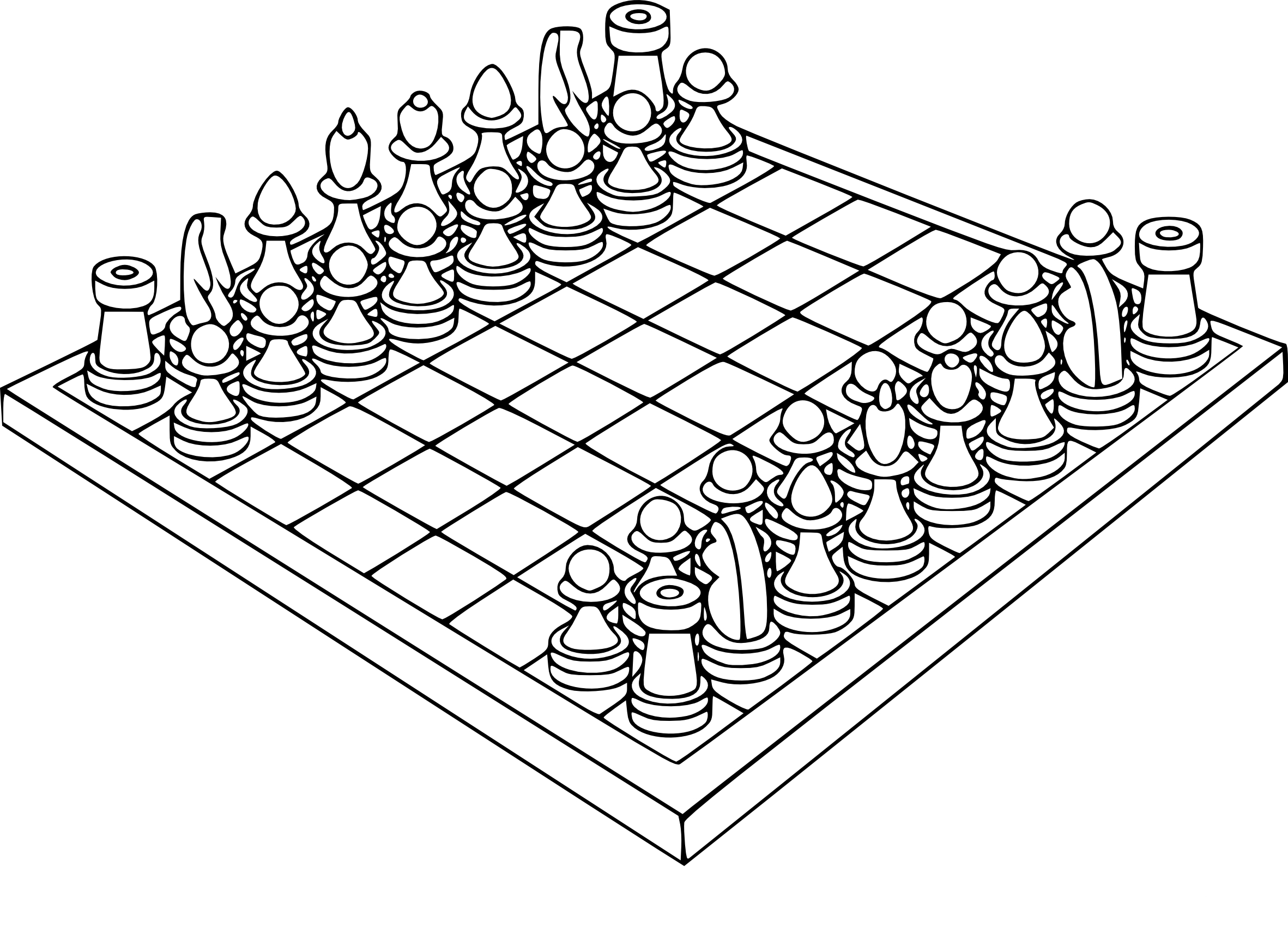 Coloriage Jeu D'échecs à Imprimer