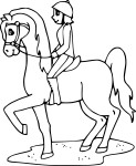 Coloriage Jockey