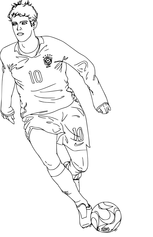 Coloriage joueur de foot Kaka